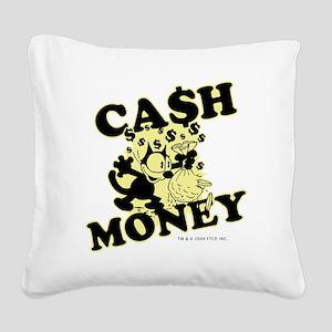 2-cashmoney Square Canvas Pillow