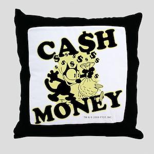 2-cashmoney Throw Pillow