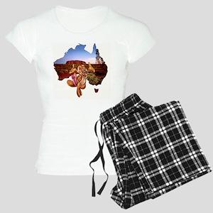 uluru and kangoala Women's Light Pajamas