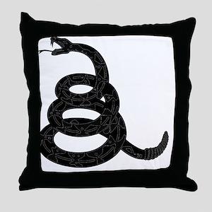 20100312 - Black Rattlesnake Throw Pillow