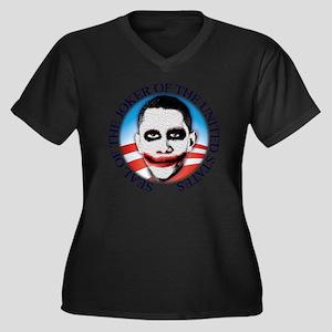 seal_shirt_l Women's Plus Size Dark V-Neck T-Shirt