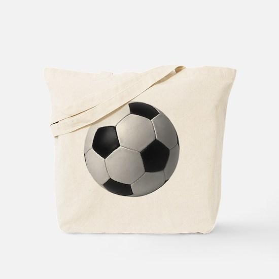 5-soccerballblack Tote Bag