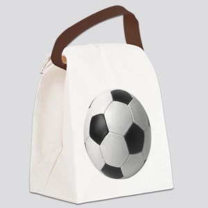 5-soccerballblack Canvas Lunch Bag