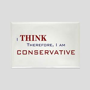 I'm Conservative Rectangle Magnet