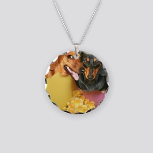 easter eggs and dogs copy Necklace Circle Charm