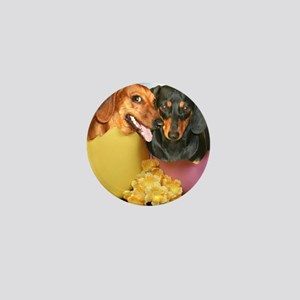 easter eggs and dogs copy Mini Button