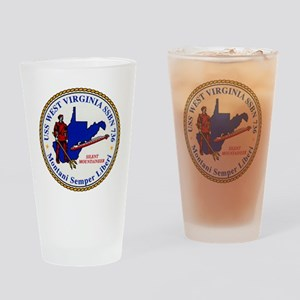 wvirginia patch transparent Drinking Glass