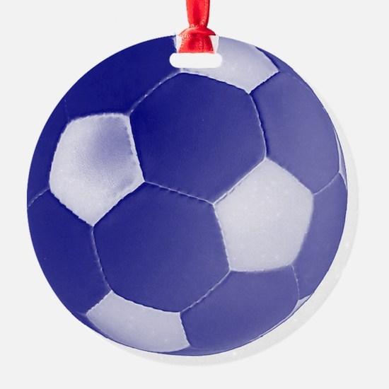 soccerballblue Ornament