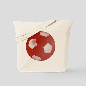 soccerballred Tote Bag