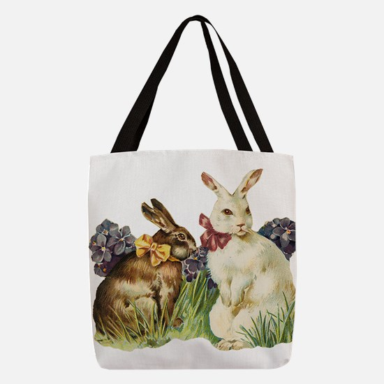 Easter rabbits Polyester Tote Bag