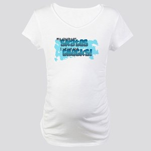 Check Mom Maternity T-Shirt