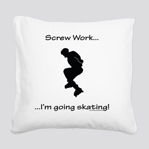 Inline Skating Square Canvas Pillow