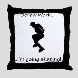 Inline Skating Throw Pillow