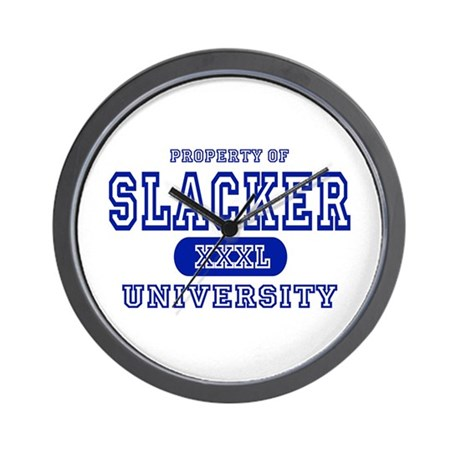 Slacker University Wall Clock