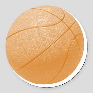 basketballorange Round Car Magnet