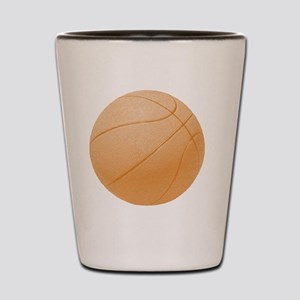 basketballorange Shot Glass