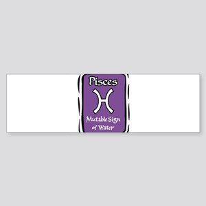Pisces Rectangle Purple Bumper Sticker