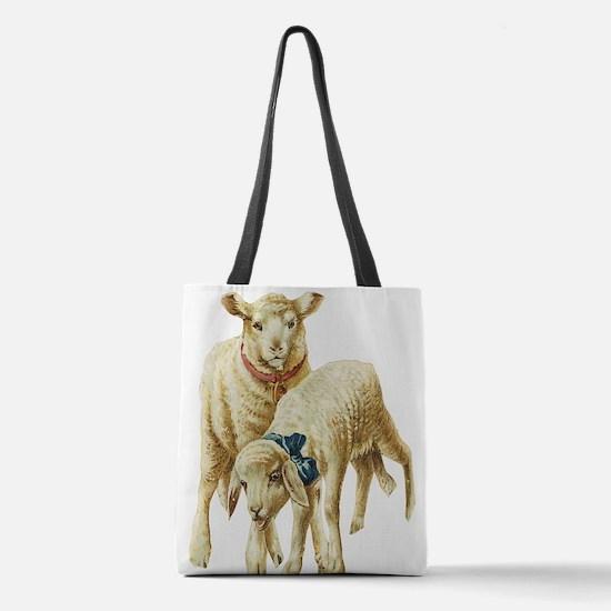 lambs Polyester Tote Bag
