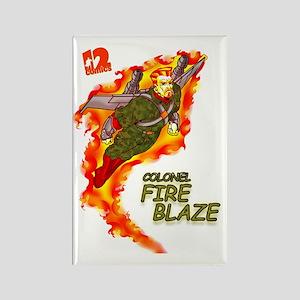 Fire Blaze_COR copy Rectangle Magnet