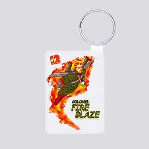 Fire Blaze_COR copy Aluminum Photo Keychain