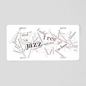 jazz 3 Aluminum License Plate