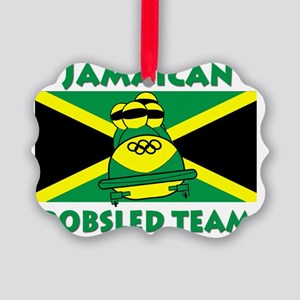 bobsledgreenenchanced Picture Ornament