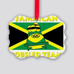 bobsledyellow Picture Ornament