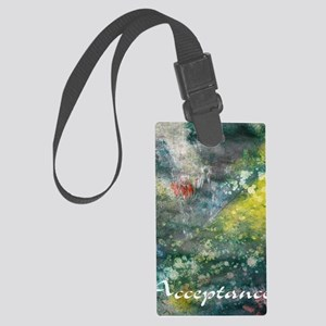 acceptance poster art Large Luggage Tag