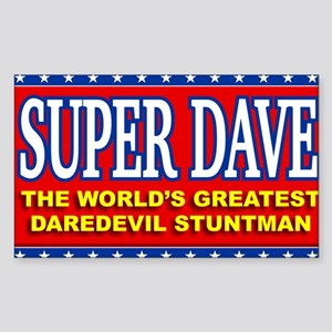 super dave Sticker (Rectangle)