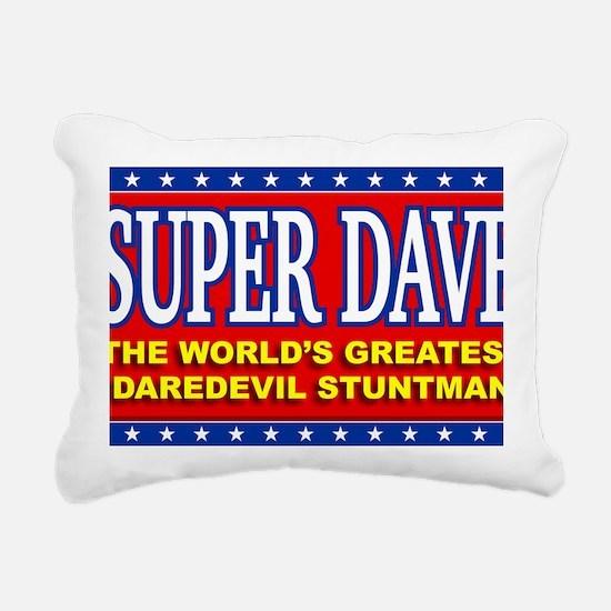 super dave Rectangular Canvas Pillow