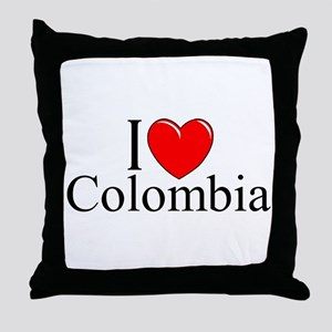 """I Love Colombia"" Throw Pillow"
