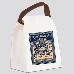 NAVY-PIER-BOX Canvas Lunch Bag