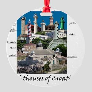 Croatia 4.5x5.75 Round Ornament