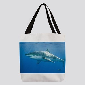 Great white shark Polyester Tote Bag