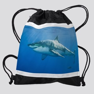 Great white shark Drawstring Bag