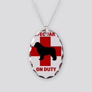 Lifeguard on Duty Necklace Oval Charm