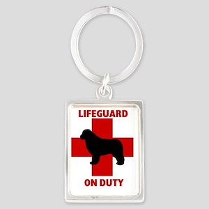 Lifeguard on Duty Portrait Keychain