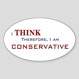 I'm Conservative Oval Sticker