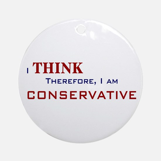 I'm Conservative Ornament (Round)
