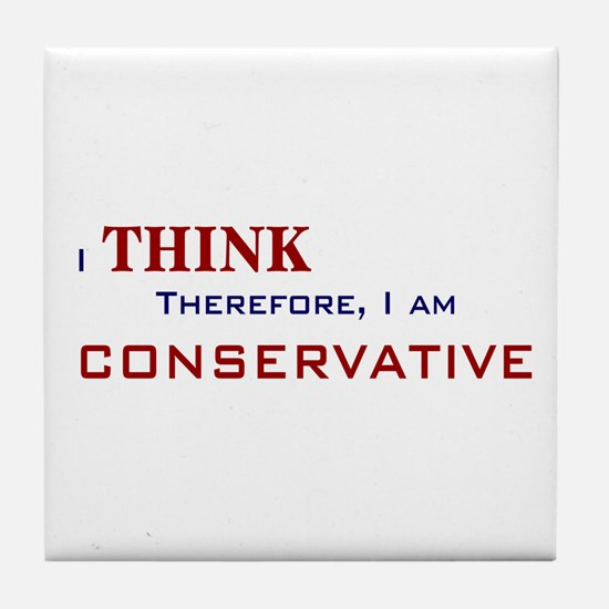 I'm Conservative Tile Coaster