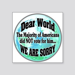 Dear World Sorry Sticker