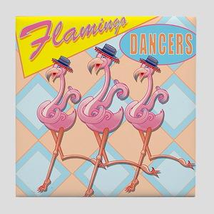 Flamingo Dancers Tile Coaster