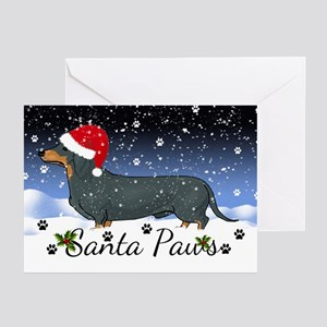 Dachshund Santa Paws Greeting Cards (Pk Of 20)