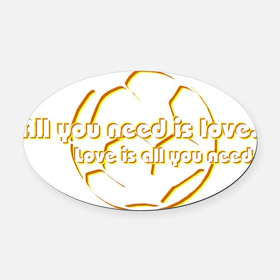 allyouneed Oval Car Magnet
