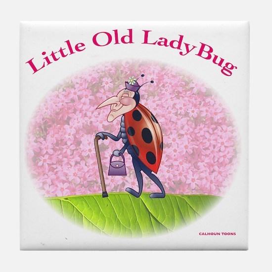 Little Old LadyBug Tile Coaster