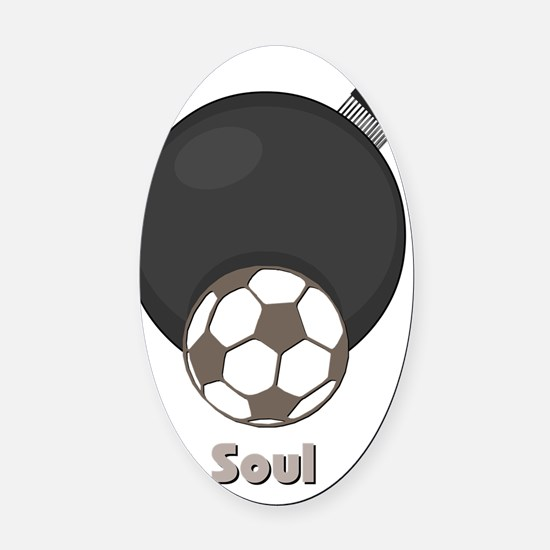 soul Oval Car Magnet