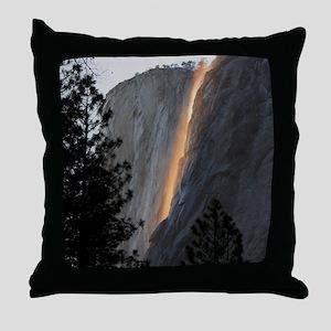 Yosemite Fire Fall Throw Pillow