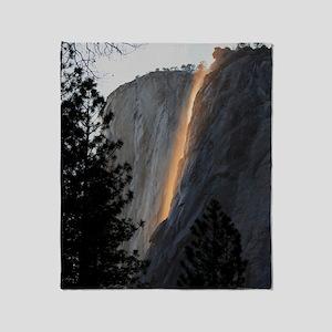 Yosemite Fire Fall Throw Blanket
