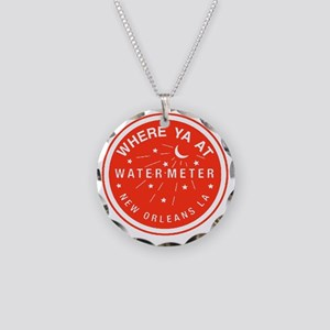 WaterMeterVoverWARedTr Necklace Circle Charm