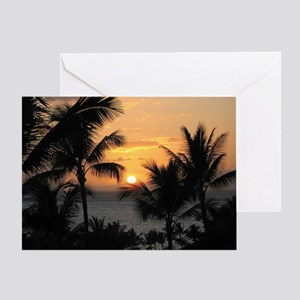 2-WaileaSunset_mug Greeting Card